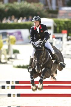 Ben and his homebred Tripple X III in Barcelona for the 2013 Furusiyya Nations Cup Finals