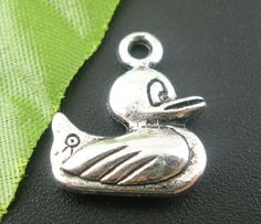 Silver Tone Duck Charm [B03905] - $1.50 : Get Me Beads!, Get Affordable Beads