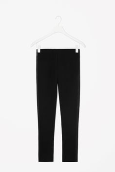 Leather detail trousers