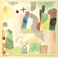 Artwork by Paul Klee, PATHETISCHES AQUAR. ROT (PATHETIC WATERCOLOUR, RED), Made of gouache on paper; watercolor and gouache on paper