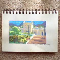 Sunday morning painting @ Brand Library! This was one of the prettiest libraries I have ever seen but also the hardest things I have ever painted. It was a full white building in shadow with a bunch of reflective light, I think i repainted the...