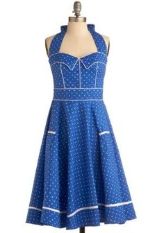 Blueberry Buckle Dress | Mod Retro Vintage Printed Dresses | ModCloth.com callmejovii
