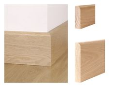 Solid oak round over skirting board and architrave