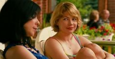 """Penny says: """"If Polley hadn't created such compelling scenes for Williams and Silverman. Margot's decisions, when she finally makes them, would be far less weighty."""" (""""Take This Waltz"""" movie) Prozac Nation, Sarah Polley, Halloween H20, The Wb, Michelle Williams, Mommy And Me, American Actress, Hot Pink, Interview"""