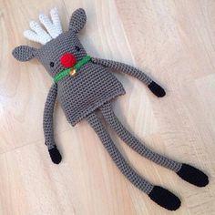 Crocheted Reindeer, pattern by Button Beautiful