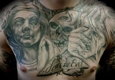 beautiful chest piece done by dean at the maxx