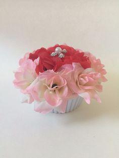 ELIXITA Centerpiece Wedding Decoration Baby Shower Flowers Silk Valentines Pearl #ELIXITA