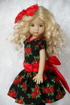 "A Joyful Christmas~ OOAK Outfit for Effner 13"" Little Darling ~ by Glorias Garde"