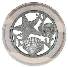 Bring a bit of the seashore into your kitchen with the Seashell Trivet from Thirstystone. Crafted in acacia wood, the weathered wood finish gets a modern upgrade with bright zinc alloy accents, to make a stylish splash in your beach-inspired kitchen. Wilton Armetale, Paper Towel Holder, Towel Holders, Cookbook Holder, Mug Tree, Coaster Holder, Utensil Holder, Nickel Silver, Weathered Wood