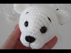 Polar bear amigurumi crochet tutorial ( head ) - YouTube