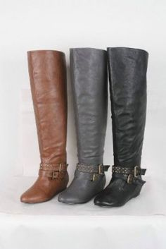 308897d905882 PASHA-01 Womens Knee High Flat Boots winter low heels