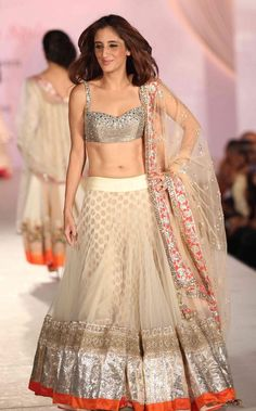 Love this light colored lengha! Manish Malhotra design.
