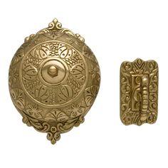 Victorian Twist Doorbell- outfitting our victorian front door with this! I have always loved mechanical doorbells.