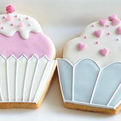 These pastel cupcake cookies designed by Zoe Clark are the perfect sweet treat! They're great for any occasion, for adults and kids alike.