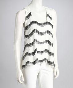Loving this White Sequin Top - Women on #zulily! #zulilyfinds