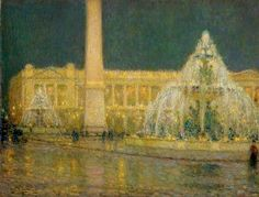 Henri Le Sidaner - Place de la Concorde Paris  1931  my absolute favorite--cant find a print of it anywhere!