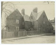 House of Seven Gables photographed by Frank Cousins circa 1851. The house was built with money from Captain John Turner's role in the slave trade.