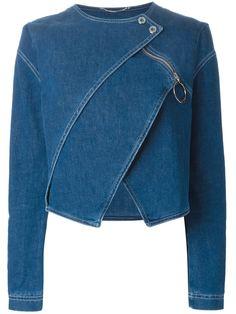 Denim jackets: Shop Kenzo tiered denim jacket in Stefania Mode fr. Fashion Sewing, Denim Fashion, Fashion Outfits, Womens Fashion, Jackets Fashion, Cheap Fashion, Modest Fashion, Fall Fashion, Denim Pullover