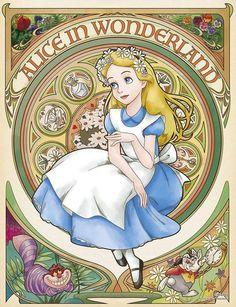 Yanoman Jigsaw Puzzle Disney Reverie Alice in Wonderland 300 Pcs Bel Art for sale online Cute Disney, Disney Art, Walt Disney, Alice In Wonderland Illustrations, Art For Sale Online, Disney Kunst, Dibujos Cute, Wonderland Party, Wonderland Alice