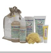 California Baby® diaper care products contain superior all-natural, food-grade ingredients that work together as a  system to  soothe  and heal diaper rash and to  prevent  new  diaper  rashes from occurring. 1. Cleanse & Soothe: Diaper Area Wash 2. Absorb & Cool: Calming Non-Talc Powder 3. Heal & Prevent: Calming Diaper Rash, Calendula or Aloe Vera Creams.  Every California Baby product I've used has become my FAVORITE! Oh they smell soooo gooood.