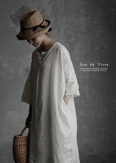 BerryStyle: Joie de Vivre 프렌치 린넨 와셔 소형선 선장 코쿤 원피스 | 라쿠텐 일본 Mori Girl, Japan Fashion, Capsule Wardrobe, Normcore, Style Inspiration, Chic, My Style, Womens Fashion, Casual