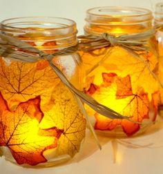 Lámpások falevelekkel - őszi dekoráció befőttes üvegből / Mindy -  kreatív ötletek és dekorációk minden napra
