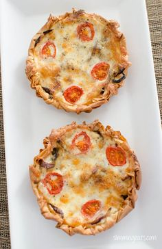 Caramelised Onion, Tomato and Mozzarella Filo Tart | Slimming Eats - Slimming World Recipes