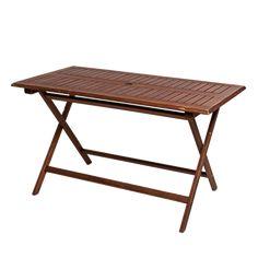 Table en teck rectangulaire 130 x 70 cm