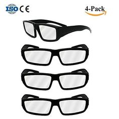 Habibee 4-Pack Black Plastic Eclipse Glasses CE & ISO Certified 2017 Safe Solar Eclipses Viewing Shades Block Sun Ultraviolet UV Lights Goggles
