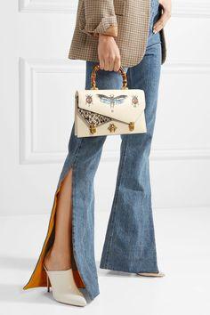 Gucci   Ottilia small embellished elaphe-paneled printed leather tote   NET-A-PORTER.COM