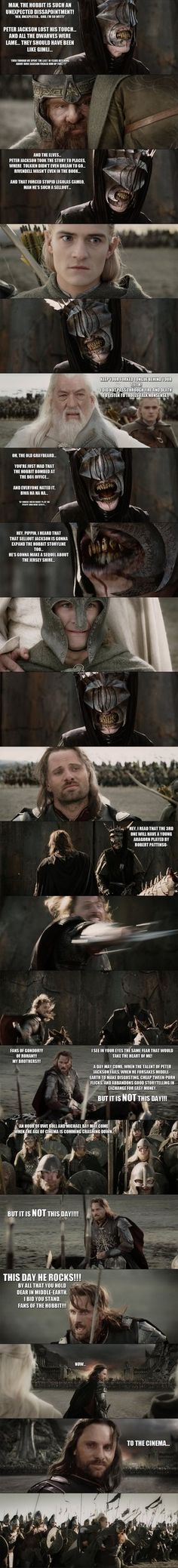 The Hobbit - Aragorn vs the Troll of Sauron... by yourparodies  http://yourparodies.deviantart.com