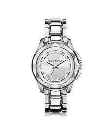 Karl 7 43.5 mm Silver IP Stainless Steel Unisex Watch - Karl Lagerfeld