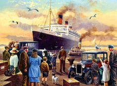 Send Off for the Queen 1000 Piece Jigsaw Puzzle by SunsOut Norman Rockwell, Car Painting, Painting & Drawing, Vintage Posters, Vintage Art, Nostalgia Art, Train Art, Am Meer, Paisajes