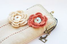 iPhone Case iPhone sleeve gadget case -- Crochet Flower  (iPhone 6s/iPhone 6s Plus/Samsung Galaxy S7 etc.)