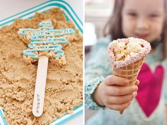 """Pink & Teal Beach Party: Crispy Treat Starfish on """"Beach"""" stamped popsicles sticks, Waffle cones rimmed with pastel sprinkles and filled with popcorn Beach Party, Ocean Party, Party Party, Party Time, Birthday Party Themes, Birthday Ideas, Birthday Cake, Summer Birthday, Mermaid Birthday"""