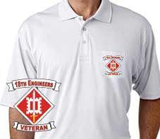 Army 18th Engineers Performance Pocket Polo Shirt