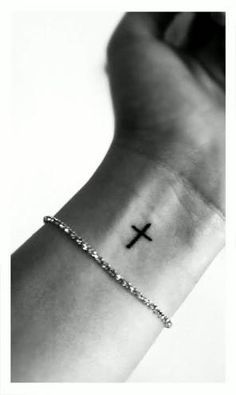 Image result for small cross tattoos on wrist