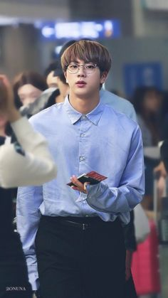 Jin!!! I would run into this picture and hug him... HE'S SOO BLOODY CUTE