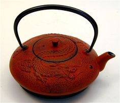 Cast iron teapot, China, Year of the Dragon