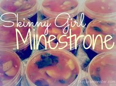 Cook once, eat for days!  Skinny Girl Minestone soup- great for veggie haters.  Great for lunch or dinner on the go!  Optional: add pasta to the mix for a more filling meal!