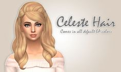 Celeste Hair at Ivo-Sims via Sims 4 Updates