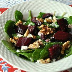 Spinach Beet Goat Cheese Salad | 20120207-seriousentertaining-vanetinesdaywiththefamily-beetwalnutsalad ...