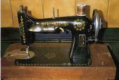Vintage sewing machine.
