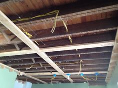 crossbeams nailed directly to ceiling joists. Country Chic Kitchen, Ft Island, Coffer, Reclaimed Barn Wood, Wood Accents, Subway Tile, Backsplash, Kitchen Dining, Tiles