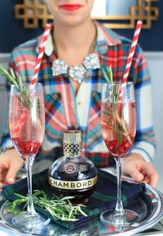 Serving up the most festive pomegranate sparklers this holiday season with @ChambordUS ! Great for hosting holiday brunches! @refinery29 #PunchAndBrunch #ad #over21 Brown-Forman Corporation, Louisville, KY, Black Raspberry Liqueur 16.5%, 21+