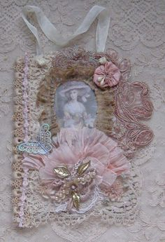 Shabby Chic Mixed Media Wall Hanging/Collage with by KISoriginals, $35.00