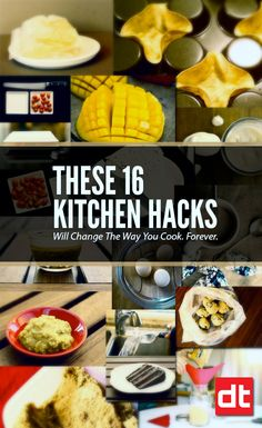 16 Kitchen Hacks Will Change The Way You Cook Forever: Once you get the idea of how to do these useful kitchen hacks, you will forget the way you lived before. ❤️ DesignAndTech.net