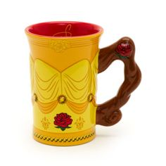Straight from Beast's enchanted castle, this striking Belle mug is perfect for Beauty And The Beast fans! The sculpted design is inspired by Belle's iconic golden ball gown and features a fun 3D handle.