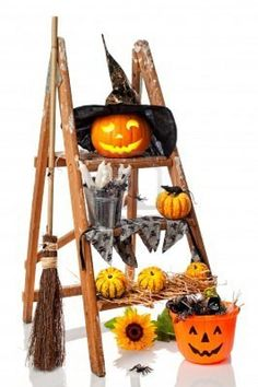 Ladder Halloween display