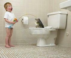 Dad it's a bigun! But Dad! Come look how big it is you ain't gona believe it! But I don't Wana flush it!
